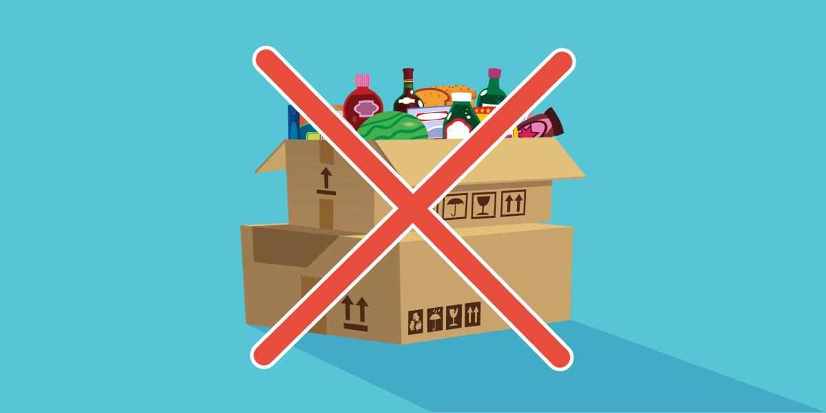 Illustration boîte de rappel de produits