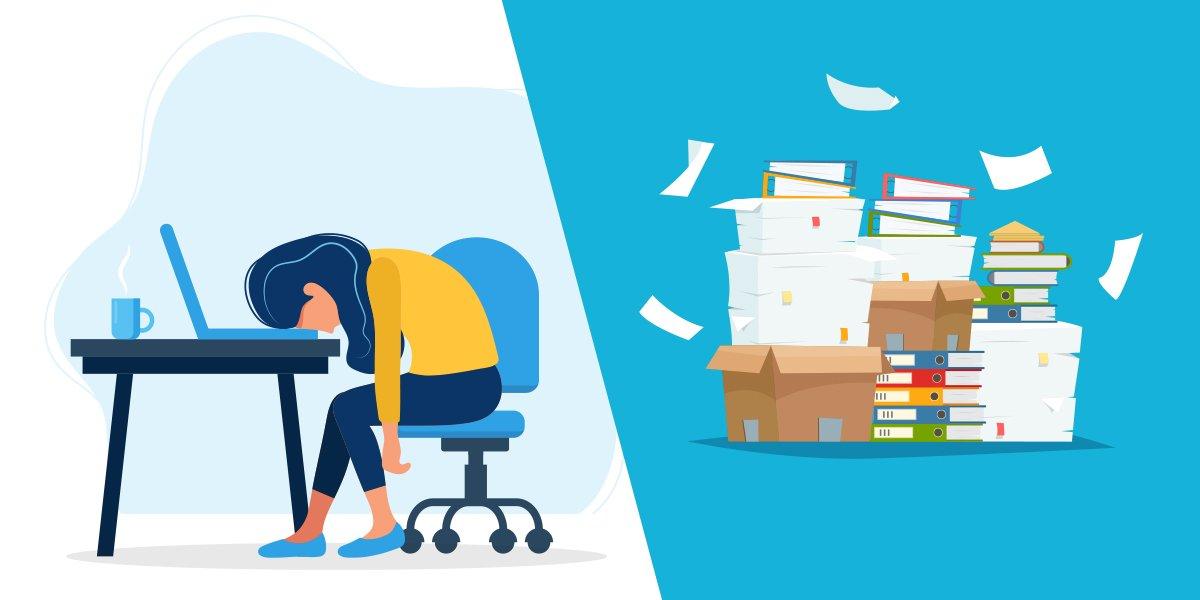 illustration représentant les défis de la gestion de la documentation